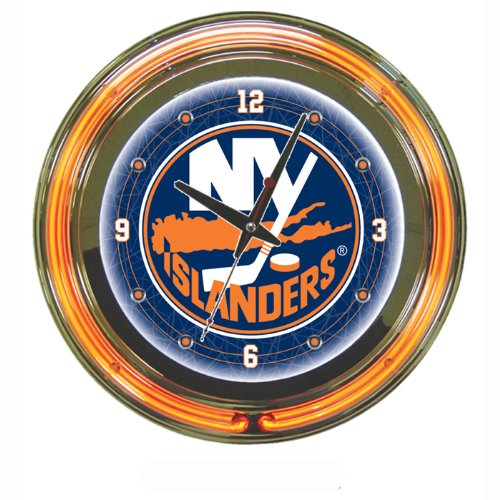 NHL New York Islanders Neon Clock - 14 inch Diameter