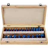 Trademark Stalwart Multi-Purpose 24-Piece Router Bit Set