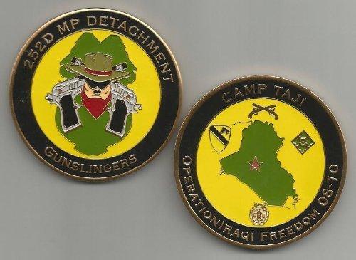 252d Military Police Detachment GUNSLINGERS Camp Taji OIF 08-10 Challenge Coin
