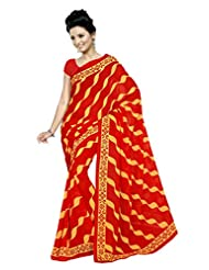 Designer Sari Appealing Printed Casual Wear Faux Georgette Saree By Triveni