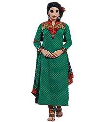 Lakshmi Fashion Creation Women's Cotton Dress Material ( green )