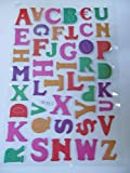 1 x Large sheet (#2) colourful letters alphabet Puffy 3D style decal re-usable stickers for Craft Kids Scrap Books Birthday Cards