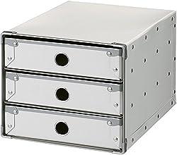 ナカバヤシ デスクトップケース 3段 A4 タテ型 ホワイト FBD-A43W