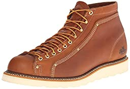 Thorogood Lace-To-Toe Roofer Work Boot, Tobacco, 7 D US