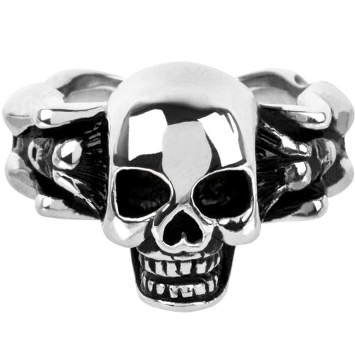 Size 9 - Inox Jewelry 316L Stainless Steel Skull Body Ring
