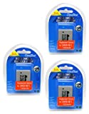 MaximalPower Battery Combo for Canon NB-7L and Powershot SX30 IS/G12/SX30IS/G11/G10 Camera (Pack of 3)