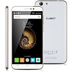 5.5'' CUBOT NOTE S IPS Schermo HD 3G Smartphone Android 5.1 MT6580 Quad Core 1.3GHz Cellulare 2GB RAM+16GB ROM Dual SIM HotKnot Telefono Cellulare WIFI Bianco