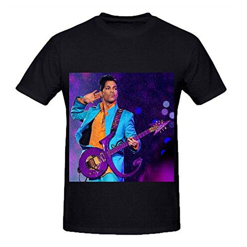 Prince DePosition Tour Soundtrack Men Crew Neck Digital Printed T Shirt Black (Schoolhouse Rock Numbers compare prices)