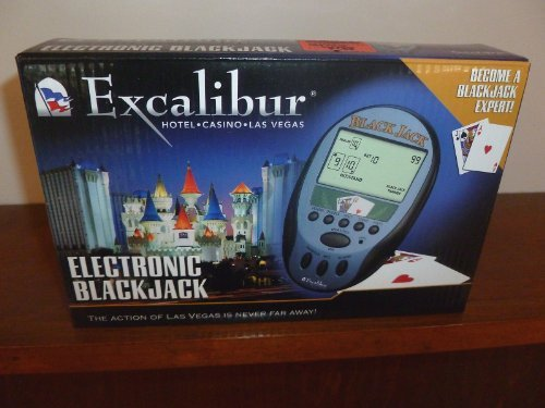 EXCALIBUR ELECTRONIC BLACKJACK HANDHELD GAME - 1