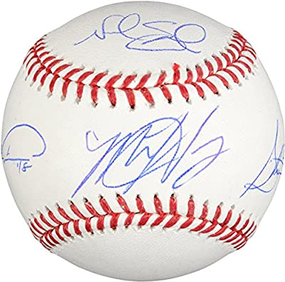 Matt Harvey, Steven Matz, Noah Syndergaard, Jacob deGrom New York Mets Autographed Baseball - Limited Edition of 215 - Fanatics Authentic Certified