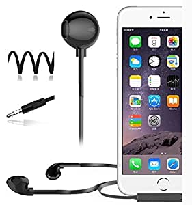 ECellStreet Premium Earphones Headphones with Noise Cancellation With Remote Control And Stereo Mic for Sony Xperia E1 Dual -Black