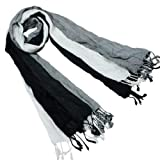Viscose Men's Fashion Scrunch Long Scarf