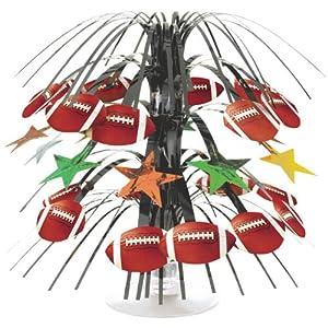 "Football Mini Cascade Centerpiece - 8.5"" (1 per package)"
