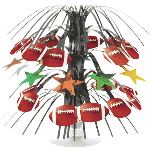 Football Mini Cascade Centerpiece - 8.5""
