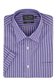 Ultimate Non-Iron Pure Cotton Short Sleeve Striped Oxford Shirt [T11-8667S-S]