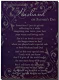 Grave Card - In Loving Memory Of My Husband On Fathers Day - Free Card Holder - F9377