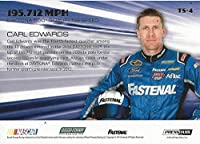 AUTOGRAPHED Carl Edwards 2014 Press Pass American Thunder TOP SPEED (#99 Fastenal Racing) Chrome Insert NASCAR Signed Collectible Trading Card with COA