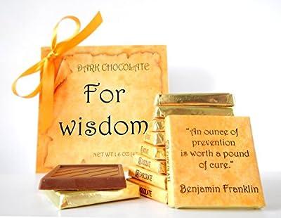 DA CHOCOLATE Cute Candy FOR WISDOM ? Dark Chocolate Gift Set ? 9 pieces of chocolate 5x5in 1 box