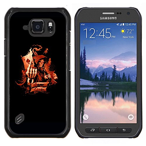# Duro Custodia protettiva Caso Cassa PC Coprire Hard Protective Case forSamsung Galaxy S6Active Active G890A # Morte Asso di Picche Game Over Death Ace Of Spades Game Over# Gift Phone Case Housing #