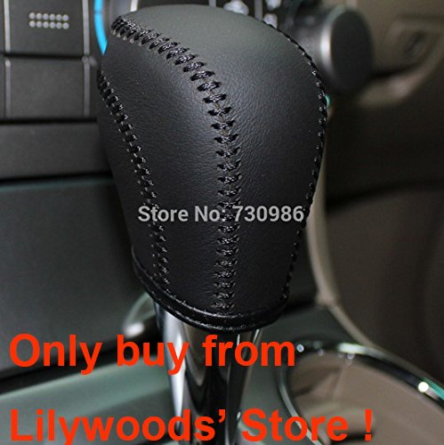 Black Genuine Leather Gear Shift Knob Cover for 2009 2010 2011 2012 2013 Toyota Corolla / 2008 2009 2010 2011 2012 2013 Toyota Highlander / 2007 2008 2009 2010 2011 Toyota Camry / 2006 2007 2008 2009 2010 2011 Toyota RAV4 / 2011 2012 2013 2014 2015 2016 Toyota Sienna / 2009 2010 2011 2012 2013 2014 2015 Toyota Venza / 2007 2008 2009 2010 2011 2012 Toyota Avalon / 2009 2010 2011 2012 2013 Toyota Matrix / 2012 2013 2014 2015 Toyota Tacoma Automatic (Gear Shift Knob Cover Toyota compare prices)