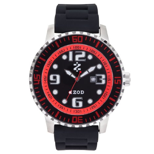 IZOD Men's IZS4/4 BLK/RED Sport Quartz 3 Hand Watch