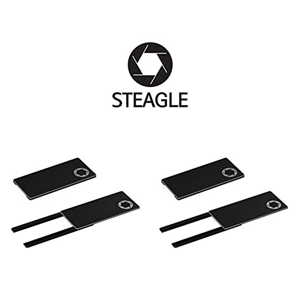 STEAGLE Premium Webcam Cover compatibl Black for your privacy 2nd Generation