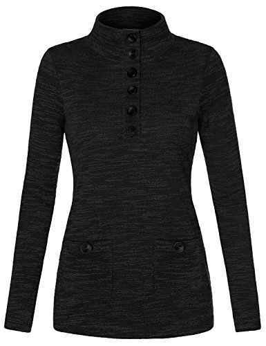 Turtleneck Sweater,Messic Women's Long Sleeve Turtleneck Stretchable Slim Sweater Jumper,Black,X-Large