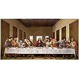 The Last Supper by Leonardo Da Vinci Wall Picture, Size 44 x 25 inches