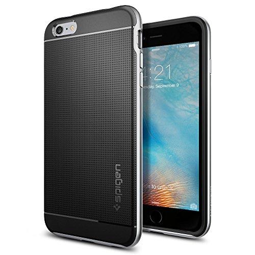 【Spigen】 iPhone6s Plus ケース, ネオ・ハイブリッド [ 二重構造 スリム フィット ] アイフォン6s Plus / 6 Plus 用 カバー 米軍MIL規格取得 (サテン・シルバー SGP11665)
