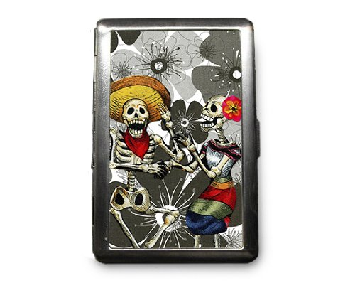 Day of the Dead Decorated ID Cigarette Case Wallet - CD226