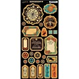 Graphic 45 Steampunk Spells Chipboard 1 for Arts and Crafts
