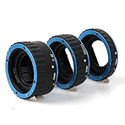 Blue Colorful Metal TTL Auto Focus AF Macro Extension Tube Ring for Canon EOS EF EF-S 60D 7D 5D II 550D