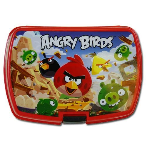 Angry Birds Rectangle Plastic Storage Box - 1