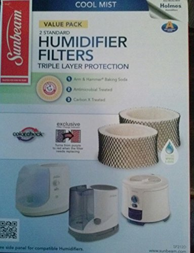 Sunbeam SF212PDQT2-WM Humidifier Filter, 2pk (Sunbeam Filters C compare prices)