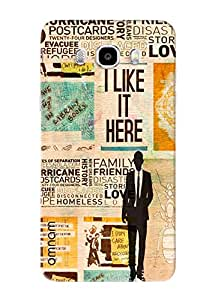 Omnam newspaper printed back cover For Samsung Galaxy J7 (2016)
