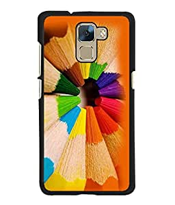 Fuson 2D Printed Color Designer back case cover for Huawei Honor 7 - D4381