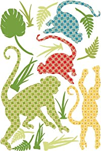 Wallpops Safari Murale Self Adhesive Wall Stickers, Antoinne the Monkey