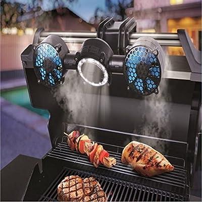 Sharper Image Portable / Adjustable 12-LED BBQ Grill Light & Fan