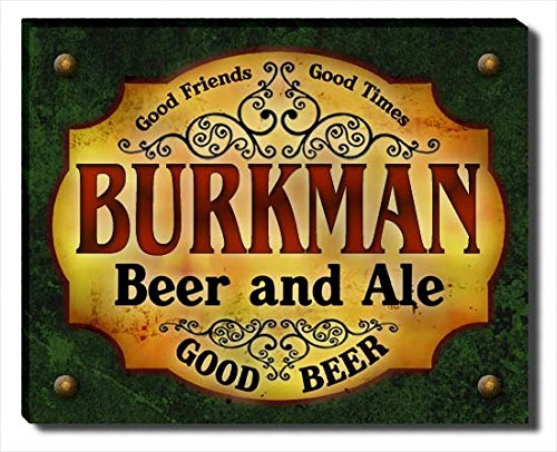 Burkman Beer & Ale Stretched Canvas Print (Burkman Brothers compare prices)