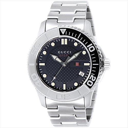 (グッチ) GUCCI グッチ 時計 メンズ GUCCI YA126253 G-TIMELESS ジータイムレス 100m防水 腕時計 ウォッチ シルバー/ブルー[並行輸入品]