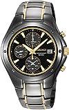 Seiko Men's SND641 Titanium Chronograph Gold-Tone Accented Watch