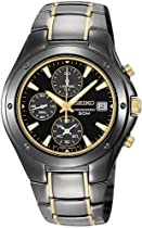 Men's watches special offers - Seiko Men's Chronograph Black Ion Watch #SND641 :  seiko mens watch