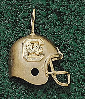 South Carolina Gamecocks C Helmet Pendant - 14KT Gold Jewelry by Logo Art