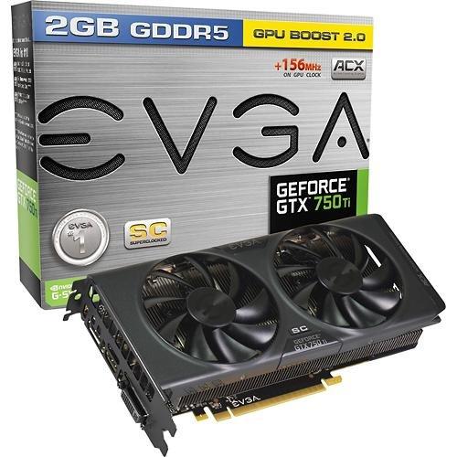 EVGA Geforce GTX 750 Ti 2GB GDDR5 PCI Express 3.0 ACX Cooler 02G-P4-3759-KB