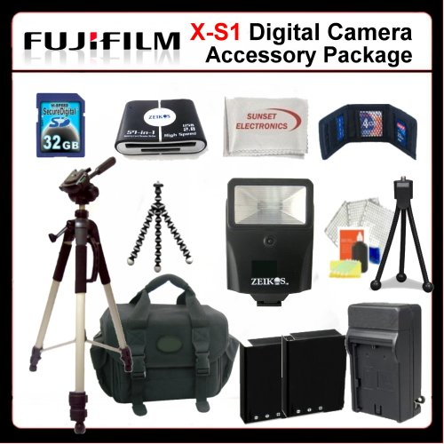 Advanced Accessory Package For Fujifilm X-S1 Digital Camera