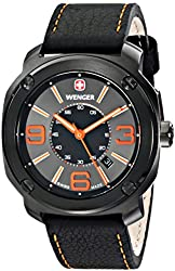 Wenger Men's 01.1051.107 Escort Analog Display Swiss Quartz Black Watch
