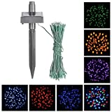 MOACC 55ft 100 LED Solar Powered String Light Holiday Fairy Lights for Outdoor Gardens, Homes, Christmas, Partys, Weddings Xmas-Red
