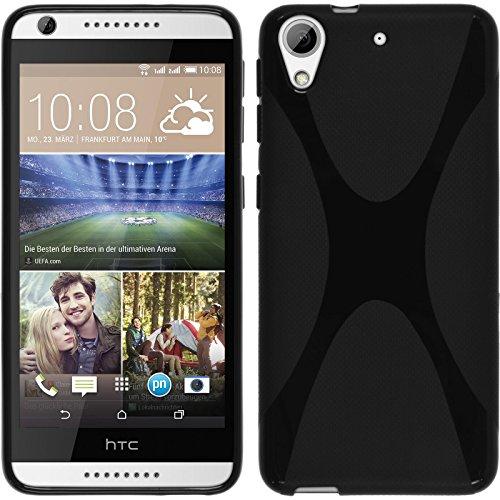 PhoneNatic HTC Desire 626 Hülle Silikon schwarz X-Style Case Desire 626 Tasche Case