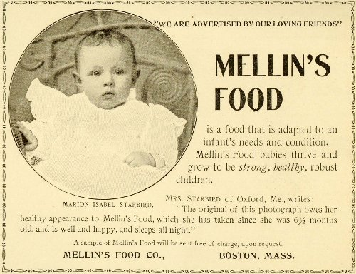 1898 Ad Mellin'S Baby Food Marion Isabel Starbird Girl Portrait Growing Health - Original Print Ad front-1019028