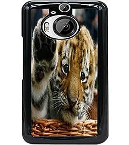 ColourCraft Cute Tiger Cub Design Back Case Cover for HTC ONE M9 PLUS